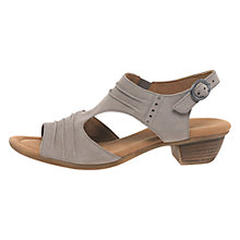 Buy Gabor Scrumptious Wide Nubuck Sandals, Beige Online at johnlewis.com