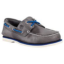Buy Timberland Classic Leather Boat Shoes, Tornado Grey Online at johnlewis.com