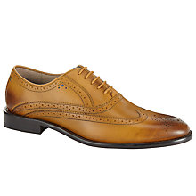 Buy Sweeney London Fellbeck Leather Lace-Up Brogues, Tan Online at johnlewis.com