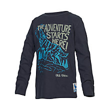 Buy Fat Face Boys' Howling Wolf Long Sleeve T-Shirt, Blue Online at johnlewis.com