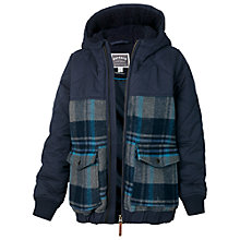 Buy Fat Face Boys' Check Coat, Blue Online at johnlewis.com