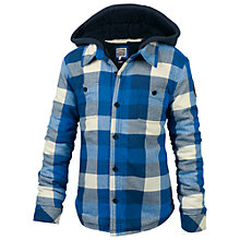 Buy Fat Face Boys' Warmwell Check Shacket,  Blue Online at johnlewis.com