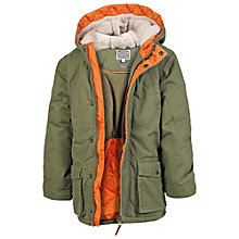 Buy Fat Face Boys' Parka Coat, Olive Online at johnlewis.com
