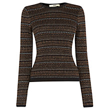 Buy Oasis Aztec Sparkle Cropped Jumper, Multi Online at johnlewis.com