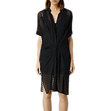 Buy AllSaints Alaw Mid Dress, Black Online at johnlewis.com