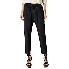 Buy AllSaints Junia Trousers, Black Online at johnlewis.com