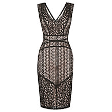 Buy Oasis Piped Lace Dress, Black Online at johnlewis.com