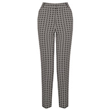 Buy Oasis Woven Geometric Trousers, Black and White Online at johnlewis.com