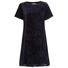 Buy White Stuff Japanese Devore Dress, Pottery Blue Online at johnlewis.com