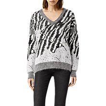 Buy AllSaints Animal Jumper, Chalk/Black Online at johnlewis.com