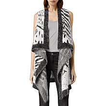 Buy AllSaints Animal Sleeveless Cardigan, Chalk/Black Online at johnlewis.com