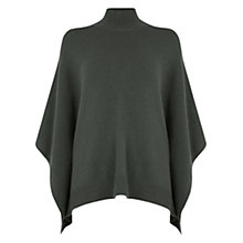 Buy Oasis High Neck Poncho, Khaki Online at johnlewis.com