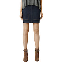 Buy AllSaints Ella Denim Skirt, Raw Indigo Online at johnlewis.com