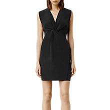 Buy AllSaints Salma Silk Dress, Black Online at johnlewis.com
