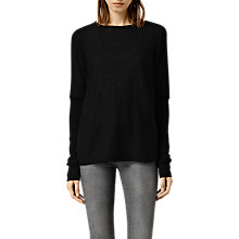 Buy AllSaints Cropped Reversible Itat Cardigan, Black Online at johnlewis.com