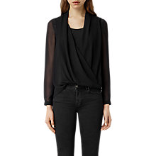 Buy AllSaints Abi Sleeve Top Online at johnlewis.com