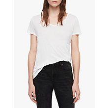 Buy AllSaints Malin Silk Blend T-Shirt Online at johnlewis.com