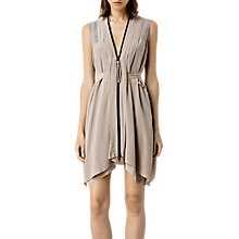 Buy AllSaints Silk Lewis Lew Dress Online at johnlewis.com