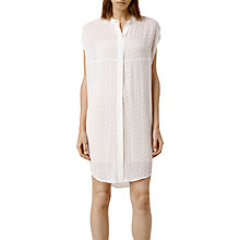Buy AllSaints Alaw Heli Dress, Chalk Online at johnlewis.com