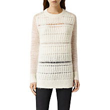 Buy AllSaints Cole Jumper, Chalk Online at johnlewis.com