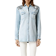 Buy AllSaints Raine Denim Shirt, Indigo Online at johnlewis.com