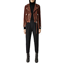 Buy AllSaints Silk Helle Trousers, Black Online at johnlewis.com