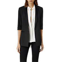 Buy AllSaints Aiers Blazer, Black Online at johnlewis.com