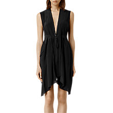 Buy AllSaints Silk Lewis Lew Dress, Black Online at johnlewis.com