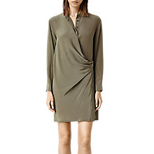 Buy AllSaints Nicola Dress, Light Khaki Online at johnlewis.com