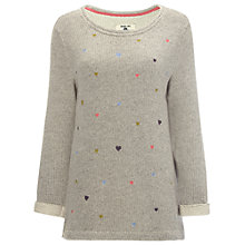 Buy White Stuff Forever Heart Sweater, Fog Grey Online at johnlewis.com
