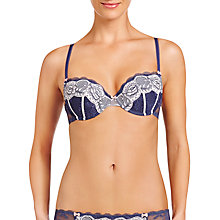 Buy Heidi Klum Intimates Madison Blossom Contour Balcony Bra, Crown Blue/Lilac Marble Online at johnlewis.com