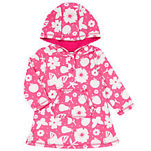 Buy John Lewis Baby Butterfly Hood Poncho Towel, Pink Online at johnlewis.com