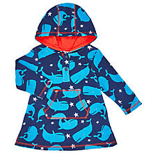 Buy John Lewis Baby Whale Hood Poncho Towel, Blue Online at johnlewis.com
