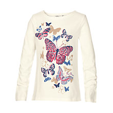 Buy Fat Face Girls' Long Sleeve 3D Butterfly T-Shirt, Natural Online at johnlewis.com