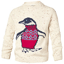 Buy Fat Face Girls' Peggy Penguin Jumper, Natural Online at johnlewis.com
