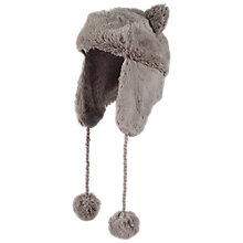 Buy Fat Face Girls' Polperro Faux Fur Trapper Hat Online at johnlewis.com