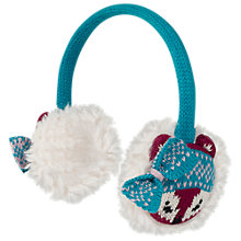 Buy Fat Face Zennor Fox Ear Muffs, Red Online at johnlewis.com