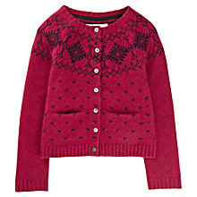 Buy Jigsaw Junior Girls' Fair Isle Cardigan, Berry Online at johnlewis.com