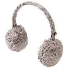 Buy Fat Face Girls' Polperro Faux Fur Earmuffs, Grey Online at johnlewis.com