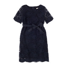 Buy Jigsaw Girls' Party Lace Dress, Navy Online at johnlewis.com