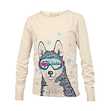 Buy Fat Face Girls' Skiing Husky T-Shirt, Natural Online at johnlewis.com