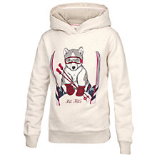Buy Fat Face Girls' Skiing Husky Hooded Sweatshirt, Natural Online at johnlewis.com