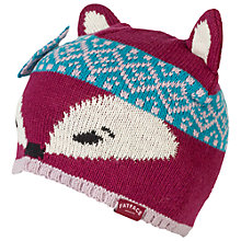 Buy Fat Face Zennor Fox Beanie Hat, Red Online at johnlewis.com