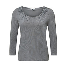 Buy Jacques Vert Pearl Cluster Jumper, Light Grey Online at johnlewis.com