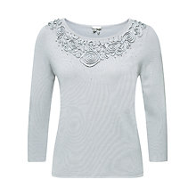 Buy Jacques Vert Cornelli Sparkle Jumper, Light Grey Online at johnlewis.com