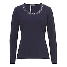 Buy Betty Barclay Embellished Top, Navy Blue Online at johnlewis.com