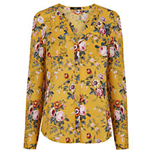 Buy Oasis Fifi Floral Blouse, Ochre Online at johnlewis.com