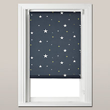 Buy John Lewis Starry Night Blackout Roller Blind, Navy Online at johnlewis.com