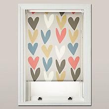 Buy Caroline Gardner Hearts Daylight Roller Blind, Multi Online at johnlewis.com