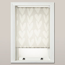 Buy Caroline Gardner Hearts Sheer Roller Blind, White Online at johnlewis.com
